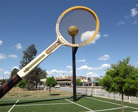 Barellans Big Tennis Racquet - Victoria Tourism