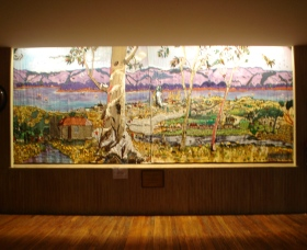 Adaminaby Memorial Hall Stage Curtain - Victoria Tourism