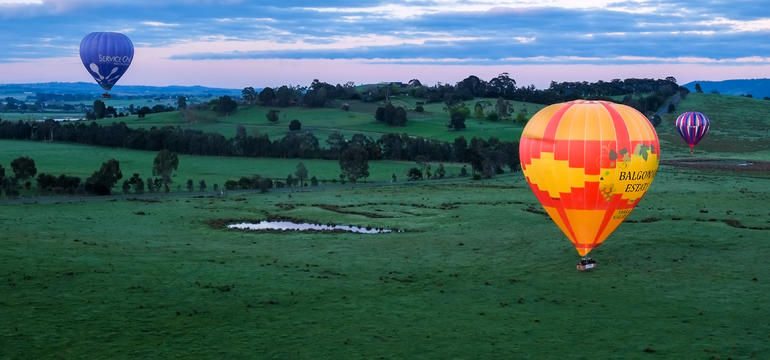 Yarra Valley Balloon Flight at Sunrise
