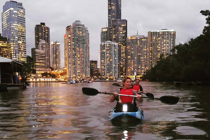 Brisbane River Guided Night Tour by Kayak