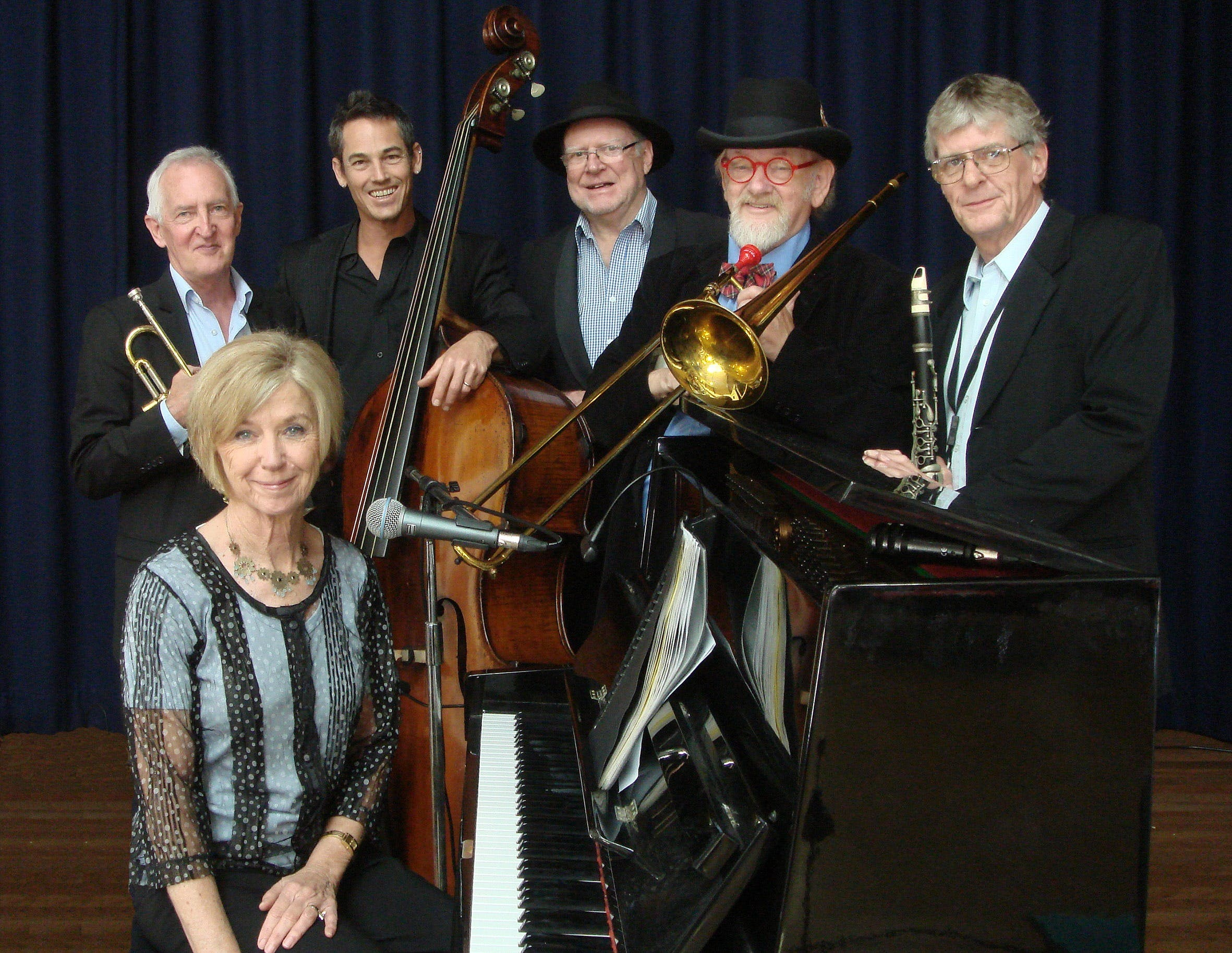 The Caxton Street Jazz Band in the Swigmore Hall at Robert Channon Wines - Victoria Tourism