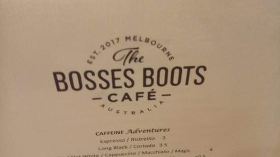 The Bosses Boots Cafe - Victoria Tourism